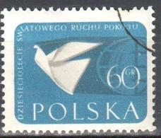 Poland 1959 - Stylized Dove And Globe - Mi 1119 - Used - Usati