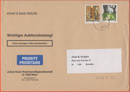 AUSTRIA - ÖSTERREICH - 2003 - 0,51 Schönlaterngasse + 2,03 Heiligenkreuz - Medium Envelope - Viaggiata Da Wien Per Bruxe - 2001-10 Storia Postale