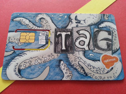 PORTUGAL SIM GSM TAG Optimus 2 - With Numbers USIM RARE MINT (BH1219b5 - Portugal