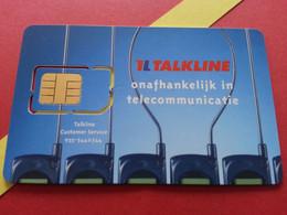 NETHERLANDS SIM GSM Talkline   - No Numbers USIM RARE MINT (BH1219b5 - [3] Sim Cards, Prepaid & Refills