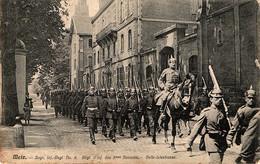 Metz, Rue Belle-Isle, Défilé Du 8e Régiment Bavarois D'infanterie - Metz