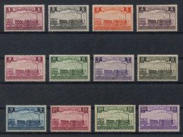 Belgium 1935 Railway Centenary Issue Lot Of 12 Stamps Between 1fr And 30fr, MH * Orig. Gum, COB TR187-TR198, Cat. €405 - 1923-1941