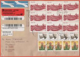 RSA - South Africa - Sud Africa - 2003 - 18 Stamps - Registered - Medium Envelope - Viaggiata Da Gardenview Per Bruxelle - Covers & Documents