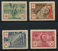 Belgium WWII Legion Wallonie Partisan Issue Complete Set MNH ** Original Gum, Fault-free Quality, COB E26-E29, Cat. €220 - Autres