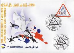 Algérie 2018 FDC 1794 Tous Contre La Violence Dans Toutes Ses Formes - Argelia (1962-...)