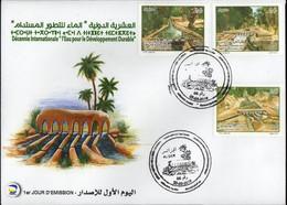 Algérie 2018 FDC 1801/1803 L'eau Pour Le Développement Durable. - Argelia (1962-...)