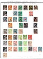 Colonies Françaises Type Sage 1892/1912 62 Timbres/20 Colonies Différents   13 €  (cote 187,05 €  62 Valeurs) - Sin Clasificación
