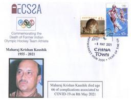 (PP 24) (Australia) COVID-19 Pandemic Olympian Related Death - M.K Kaushik (Hockey Team) 8 May 2021 - Disease