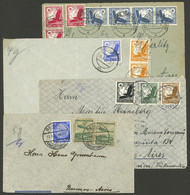 GERMANY: 4 Airmail Covers Sent To Argentina Between 1935 And 1937, All Trimmed Below, Good Opportunity! - Cartas