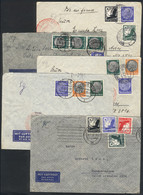GERMANY: 5 Airmail Covers Sent To Argentina Between 1936 And 1938, All Franked With 1.75Mk. In Varied Combinations, Fine - Cartas