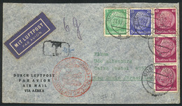 GERMANY: Airmail Cover Sent From Bonn To Brazil On 28/JA/1939 Franked With 1.50Mk., With Due Mark Due To Insufficient Po - Cartas