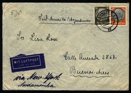 GERMANY: Airmail Cover Sent From Hannover To Argentina On 8/DE/1939, Franked With 1.30Mk. And Censored On Back, Very Int - Cartas