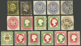 GERMANY: Small Group Of Old Stamps, Those Of Prussia Of VF General Quality, Thos Of Heligoland Hinged, Low Start! - Sin Clasificación