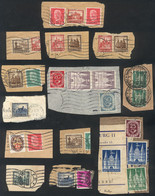 GERMANY: Small Lot Of Good Stamps On Used Fragments, Very Fine Quality, Scott Catalog Value Approx. US$600, Good Opportu - Sin Clasificación