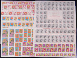 GERMANY: FIGHT AGAINST TUBERCULOSIS: More Than 1,700 Cinderellas Of Circa 1964/1976, Almost All In Complete Sheets (some - Otros