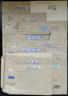 """WEST GERMANY: 9 Large Covers That Contained """"business Papers"""" Sent By Registered Airmail To Argentina With Large Postage - Sin Clasificación"""