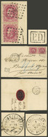 BELGIUM: PAQUEBOT BELGE: 21/MAR/1872 Liége - Buenos Aires, Folded Cover Franked With 80c.(Sc.35 Pair) With Double Numera - Non Classés