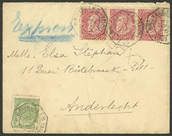 BELGIUM: 12/SE/1901 Bruxelles - Anderlecht, Express Cover With 35c. Postage And Octagonal Cancels, Very Nice! - Non Classés