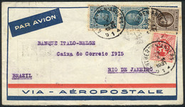 BELGIUM: Airmail Cover Franked With 14.25Fr. (Sc.190 + Other Values), Sent From Anvers To Brazil On 23/OC/1931, Via Air  - Non Classés