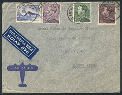 BELGIUM: Airmail Cover Sent From Antwerpen To Argentina On 11/DE/1939, With Nice Postage Of Fr. 18.75, VF Quality! - Non Classés