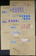 BELGIUM: LARGE POSTAGES: 7 Airmail Covers Sent To Argentina In 1957/8 With Important Postages Including High Values, VF  - Non Classés