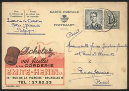 BELGIUM: Advertising Postal Card (ROPES) Sent To Brazil On 27/OC/1959, Very Nice! - Non Classés