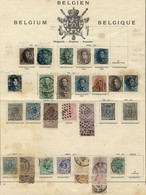 BELGIUM: Very Nice Collection In Old Album Pages, Including Several Rare And Scarce Stamps, And Also Good Cancels, Fine  - Non Classés