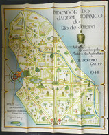 BRAZIL: Map Of The BOTANICAL GARDEN Of Rio De Janeiro, Published In 1944 By Imprenta Nacional, Large Size, Very Decorati - Non Classificati