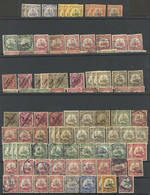 GERMAN COLONIES: 4 Stock Cards With More Than 160 Stamps Of German Colonies In Africa, With A Wide Range Of Cancels, VF  - Sin Clasificación