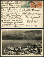 LEBANON: PC With View Of Beyrouth Sent By Airmail To Brazil On 15/OC/1947, VF Quality! - Lebanon