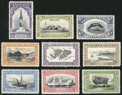FALKLAND ISLANDS/MALVINAS: Yvert 59/67, 1933 Centenary Of British Occupation, The Set Up To 2/6, Mint Lightly Hinged, Ve - Falkland Islands