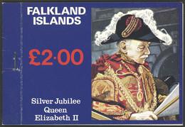 FALKLAND ISLANDS/MALVINAS: Sc.254a/256a, 1977 Silver Jubilee Queen Elizabeth II, Complete Booklet With 3 Panes, VF Quali - Falkland Islands