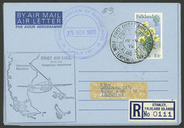 FALKLAND ISLANDS/MALVINAS: 15/NO/1972 Port Stanley - Comodoro Rivadavia, First Flight From The Temporary Airfield, Regis - Falkland Islands