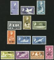 FALKLAND ISLANDS/MALVINAS - SOUTH GEORGIA: Sc.18/30, 1971/2 1p. To 50p., The 13 High Values Of The Provisional Set (only - Falkland Islands