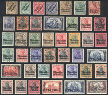 GERMAN MOROCCO: Interesting Lot Of Used Or Mint Stamps, Almost All Of Excellent Quality, Perfect To Start This Chapter O - Oficina: Marruecos