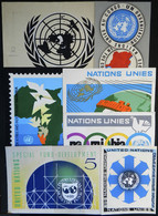 UNITED NATIONS: Circa 1960, 7 Original Artist's Drawings Of Unadopted Designs, Varied Topics, All Of Uruguayan Artist An - Collections, Lots & Series