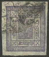 NEPAL: Sc.8, 1886 2a. Violet, Used, VF Quality! - Népal