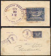 PANAMA: Cover Franked By Sc.C15, Sent From BOCAS DEL TORO To Colón On 29/NO/1931 And Forwarded To Chitré (arrival Mark O - Panama