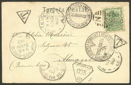 "URUGUAY: 22/NO/1902 LA BARRA - Argentina, Beautiful Postcard Franked With 1c. And Dated In ""La Barra"", Sent To Almagro ( - Uruguay"