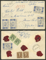 URUGUAY: 16/DE/1948 FRAY BENTOS - Buenos Aires, Cover With DECLARED VALUE, Nice Franking, VF Quality! - Uruguay