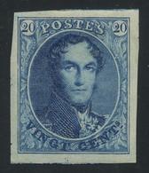 Belgium Medaillons 20c Blue 1895 REPRINT (reimpression) MH * Original Gum, Un-watermarked, Perfect Condition - 1849-1865 Médaillons (Autres)