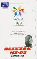 Carte JAPON - SPORT - JEUX OLYMPIQUES NAGANO ** BLIZZAK Bridgestone ** - OLYMPIC GAMES JAPAN Tosho Card - Olympic Games