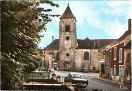 """CPSM 77 (Seine-et-Marne) Villiers-sur-Morin - Place De L'église Et """"épicerie De Choix"""" TBE Couleur, Voiture 3 Chevaux - Autres Communes"""