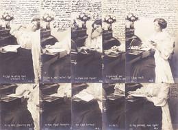 Vaf081 ♥️ Série Complète 10 CP Promotion Du Livre Et VertusLecture 1903 à Rose BOUTET Tourouzelle Photo-Bromure M-A - Vrouwen