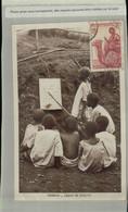 GABON - ECOLE - LECON De LECTURE - GROUPE D'ENFANTS Carte Photo  (Mai 2021 65) - Gabon