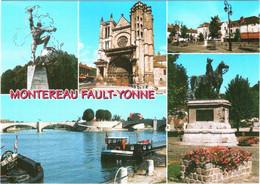 CPM 77 (Seine-et-Marne) Montereau-Fault-Yonne - Multivues TBE Napoléon, Péniches, ... - Montereau