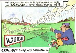 CPM 77 Vaux-le-Pénil, Près Melun - 11 Décembre 1994, 14e Foire Aux Collections SUPERBE DEDICACE De J Claval TBE - Autres Communes