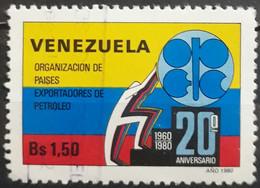 VENEZUELA 1980 The 20th Anniversary Of Organization Of Petroleum Exporting Countries. USADO - USED - Venezuela