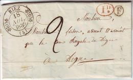 Cachet TYPE 11 RIEZ Basses Alpes BOITE RURALE F IDENTIFIEE !!! Lettre Avec Texte Complet , TTB++++ 18 Nov 1839 - 1849-1876: Classic Period