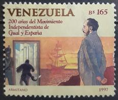 VENEZUELA 1997 The 200th Anniversary Of Independence Movement Of Manuel Gual And Jose Maria Espana. USADO - USED - Venezuela